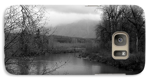Galaxy Case featuring the photograph At The River Turn Bw by Kathleen Grace