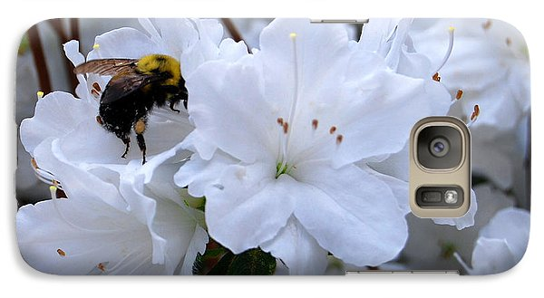 Galaxy Case featuring the photograph At Work In The Garden by Linda Mesibov