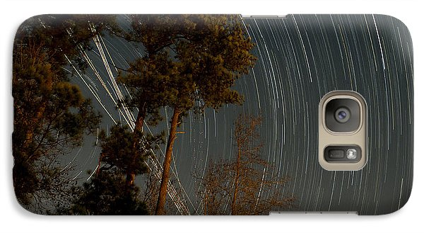 Galaxy Case featuring the photograph Atlanta Star Trails by Ray Devlin
