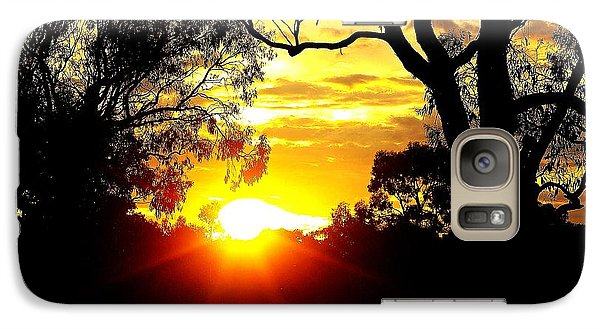 Galaxy Case featuring the photograph Aussie Sunset by Blair Stuart