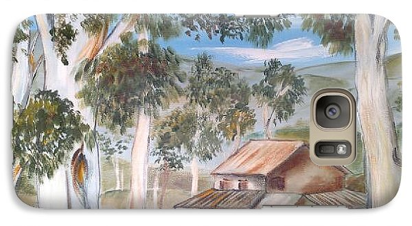 Galaxy Case featuring the painting Australian Outback Cabin 2 by Roberto Gagliardi