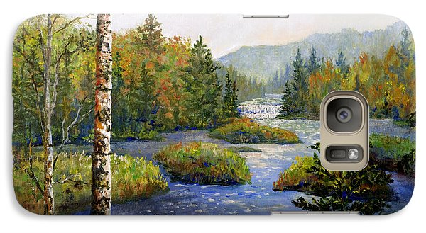 Galaxy Case featuring the painting Autum In Michigan by Lou Ann Bagnall