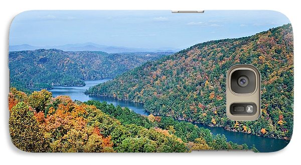 Galaxy Case featuring the photograph Autumn At Lake Tugalo by Susan Leggett