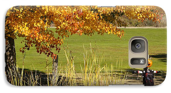 Galaxy Case featuring the photograph Autumn At The Schoolground by Mick Anderson