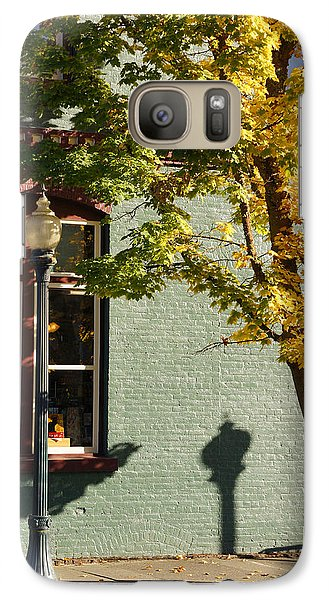 Galaxy Case featuring the photograph Autumn Detail In Old Town Grants Pass by Mick Anderson