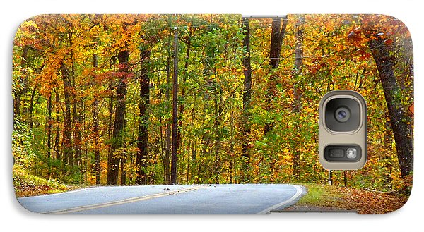 Galaxy Case featuring the photograph Autumn Drive by Lydia Holly