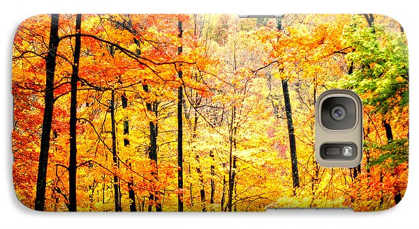 Galaxy Case featuring the photograph Autumn Forest by Randall Branham