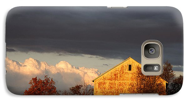 Galaxy Case featuring the photograph Autumn Glow With Storm Clouds by Karen Lee Ensley