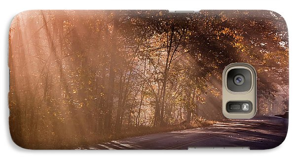 Galaxy Case featuring the photograph Autumn God Light by Tom Singleton