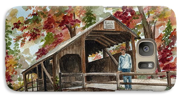 Galaxy Case featuring the painting Autumn In Knoebels Grove  by Nancy Patterson