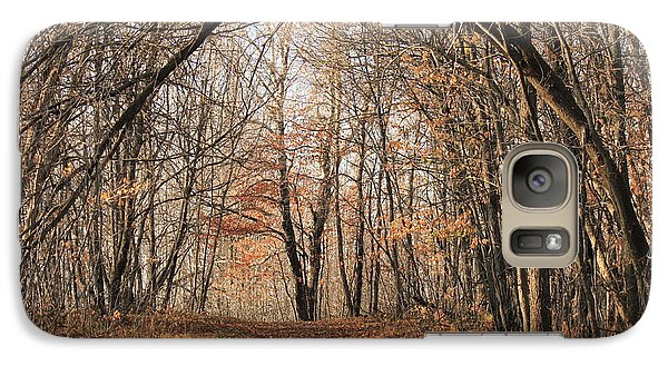 Galaxy Case featuring the photograph Autumn In The Woods by Penny Meyers