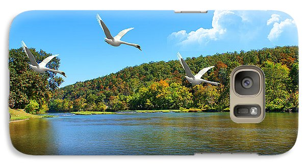 Galaxy Case featuring the photograph Autumn Landing by Rick Friedle