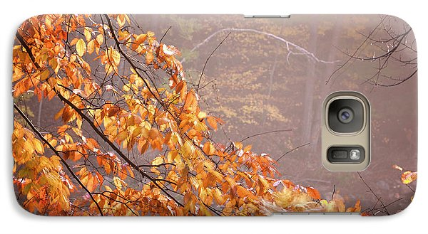Galaxy Case featuring the photograph Autumn Leaves And Fog by Tom Singleton