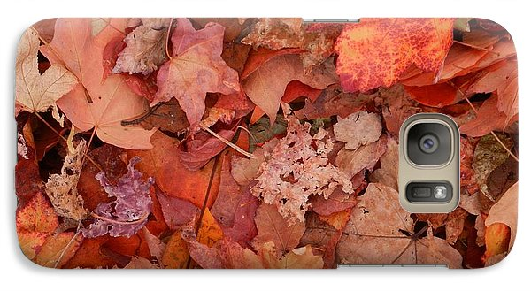 Galaxy Case featuring the photograph Autumn Leaves by Karen Molenaar Terrell
