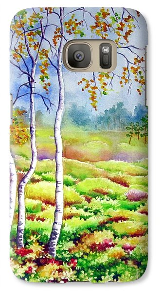 Galaxy Case featuring the painting Autumn Marsh by Inese Poga