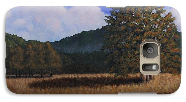 Galaxy Case featuring the painting Autumn Meadow by Janet Greer Sammons