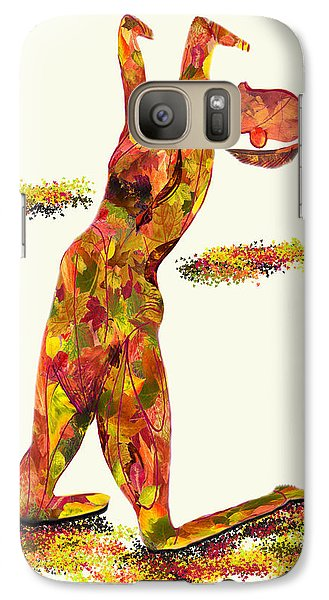 Galaxy Case featuring the digital art Autumn Raiment by Shelley Bain
