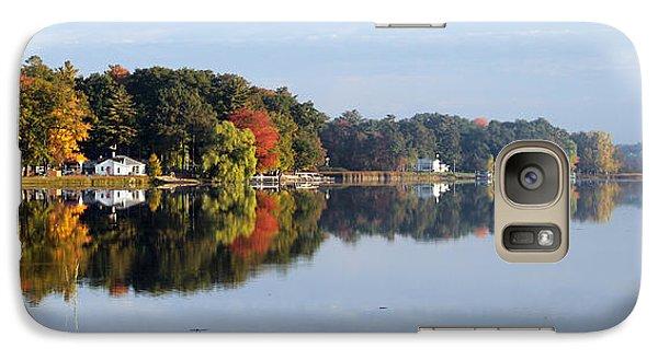 Galaxy Case featuring the photograph Autumn Reflection On The Peshtigo River by Mark J Seefeldt