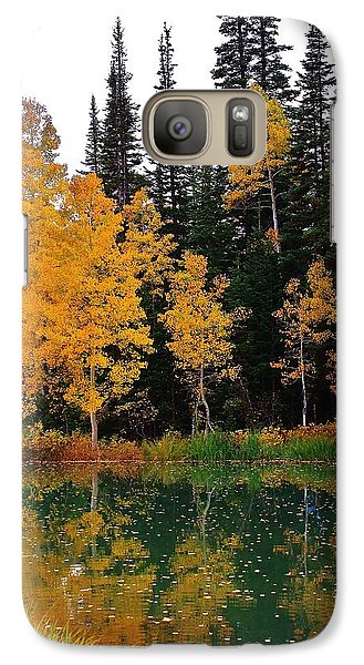 Galaxy Case featuring the photograph Autumn Reflections by Bruce Bley