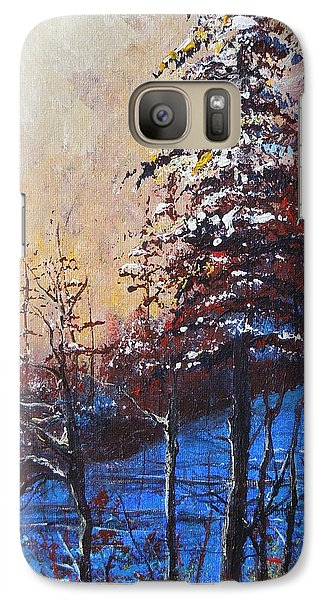 Galaxy Case featuring the painting Autumn Silence by Dan Whittemore