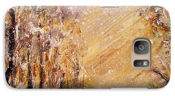 Galaxy Case featuring the painting Autumn Snow by Karen  Ferrand Carroll