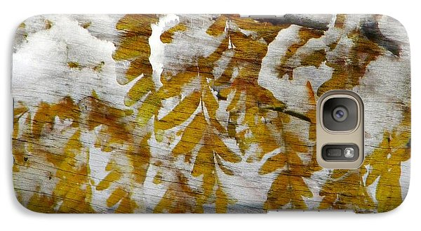 Galaxy Case featuring the photograph Autumn Snow by Michelle Frizzell-Thompson