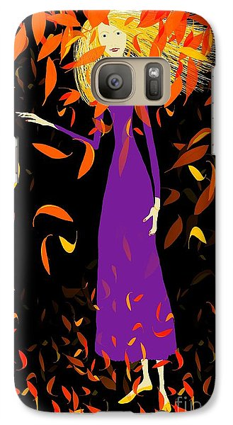 Galaxy Case featuring the digital art Autumn Spirit by Barbara Moignard