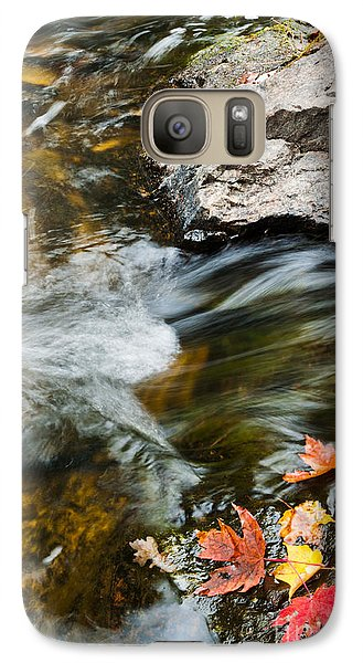 Galaxy Case featuring the photograph Autumn Stream by Cheryl Baxter
