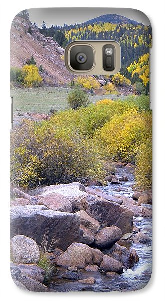 Galaxy Case featuring the photograph Autumn Stream by Michelle Frizzell-Thompson