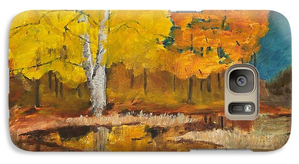 Galaxy Case featuring the painting Autumn Tranquility by Cynthia Morgan