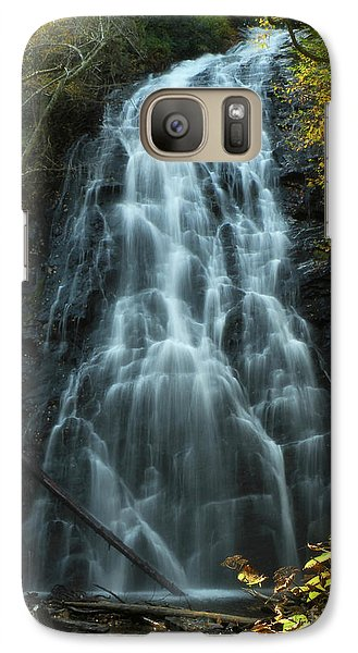 Galaxy Case featuring the photograph Autumn Waterfall by Deborah Smith