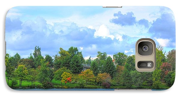 Galaxy Case featuring the photograph Autumn's Beauty At Hoyt Lake by Michael Frank Jr