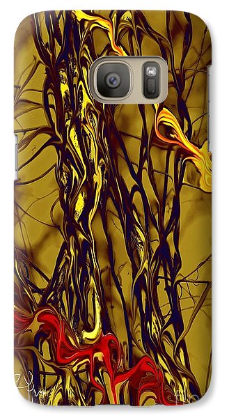 Galaxy Case featuring the digital art Shapes Of Fire by Leo Symon