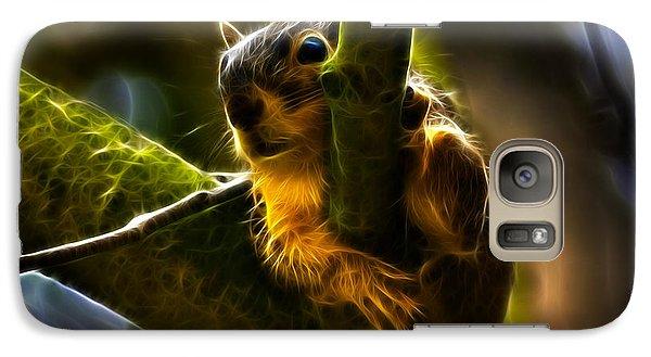 Galaxy Case featuring the digital art Awww Shucks- Fractal - Robbie The Squirrel by James Ahn