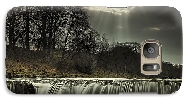 Galaxy Case featuring the photograph Aysgarth Falls Yorkshire England by John Short