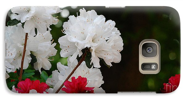 Galaxy Case featuring the photograph Azaleas by Linda Mesibov