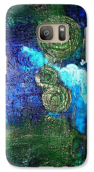 Galaxy Case featuring the painting Aztec Suns by Mary Kay Holladay