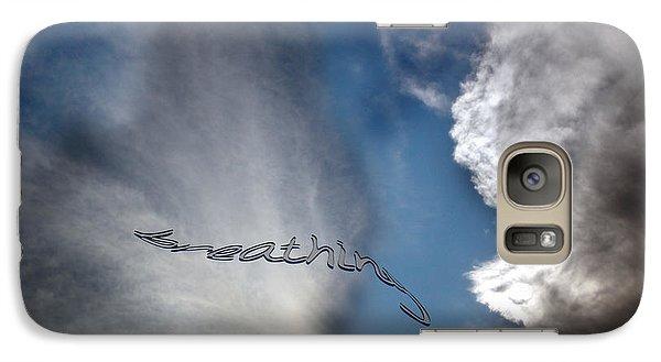 Galaxy Case featuring the photograph B R E A T H E by Vicki Ferrari