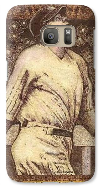 Galaxy Case featuring the mixed media Babe Ruth The Bambino  by Ray Tapajna