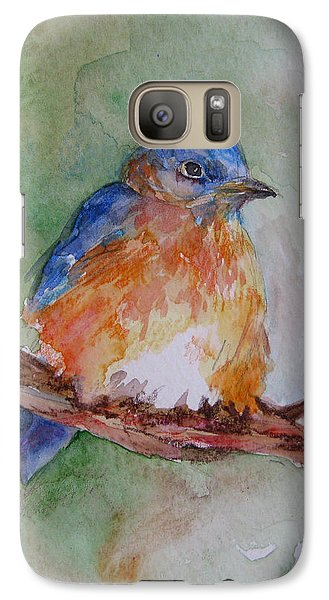 Galaxy Case featuring the painting Baby Blue Bird by Gloria Turner