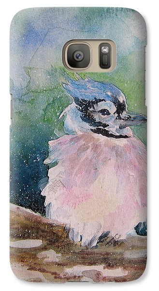Galaxy Case featuring the painting Baby Blue Jay by Gloria Turner