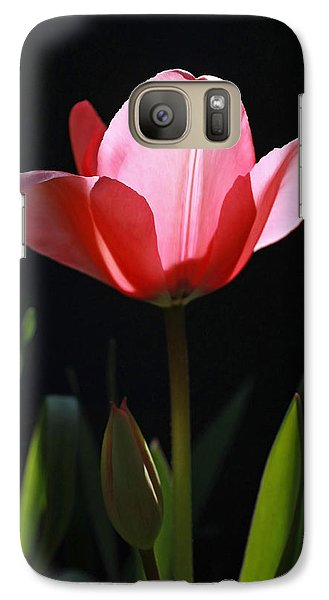 Galaxy Case featuring the photograph Back Lite Tulip by Tyra  OBryant