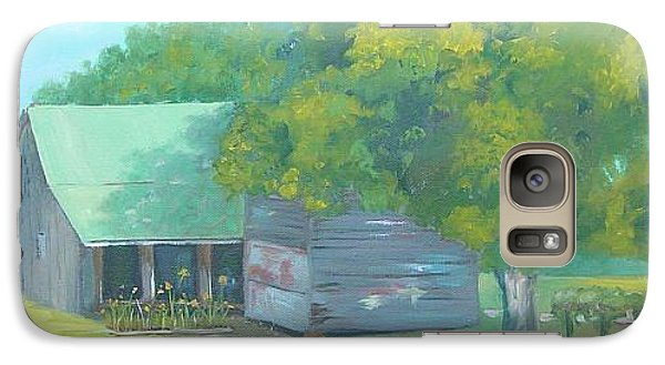 Galaxy Case featuring the painting Backyard by Carol Berning