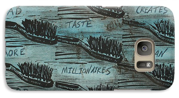 Galaxy Case featuring the mixed media Bad Taste by William Cauthern