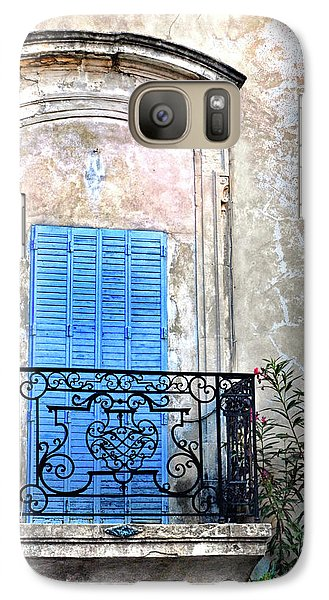 Galaxy Case featuring the photograph Balcony Provence France by Dave Mills