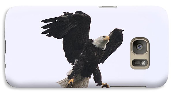 Galaxy Case featuring the photograph Bald Eagle Tallons Open by Kym Backland
