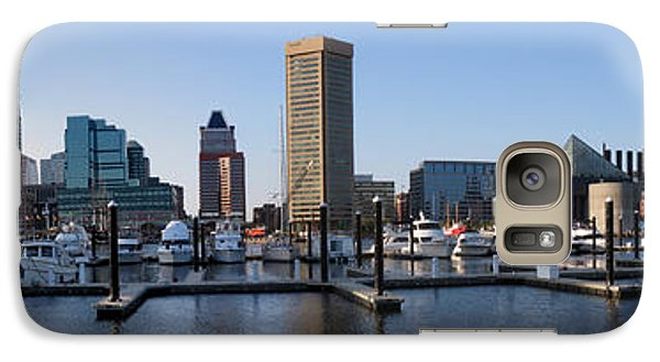 Galaxy Case featuring the photograph Balitmore Inner Harbor Panorama by Darleen Stry
