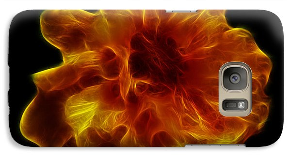 Galaxy Case featuring the photograph Ball Of Fire by Lynn Bolt
