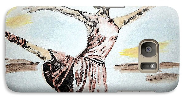 Galaxy Case featuring the painting Ballerina by Shelley Bain