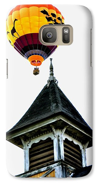 Galaxy Case featuring the photograph Balloon By The Steeple by Rick Frost